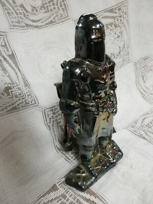Antique Cast Iron Victorian Figural Renaissance Knight Coal Fireplace Tool Set