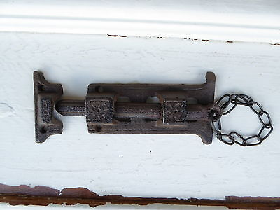 Rustic Cast Iron Metal Door Cabinet slide Latch Hardware ~ DIY Project Supplies