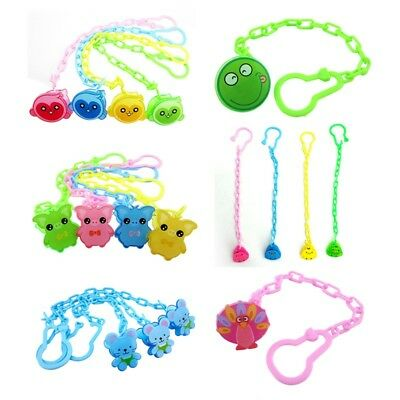 Cartoon Baby Pacifier Clip Chain Dummy Soother Clips Strap Holder Color Radom UK