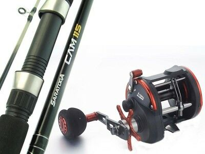 SARATOGA 6'6 15kg Overhead Trolling Jigging Fishing Rod and Reel Combo Tuna Boat
