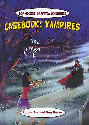Casebook: Vampires by Justine Fontes (English) Library Binding Book Free Shippin
