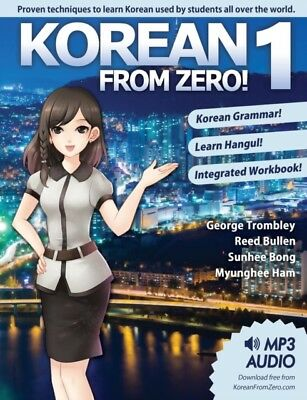 Korean From Zero! 1: Proven Methods to Learn Korean with included Workbook, MP3.