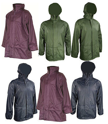 KIDS New Waterproof Lightweight pack away Jacket - Outdoors 3 colours all sizes
