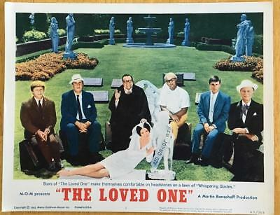 Stars of Loved One on headstones at Whispering Glades 1965 #1 lobby card 273