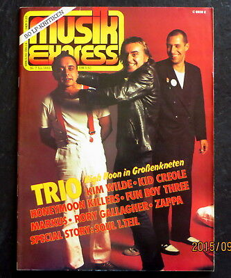 Musik Express 07/82 Cover:TRIO; Kim Wild, Kid Creole, Zappa, Story: Soul 1.Teil