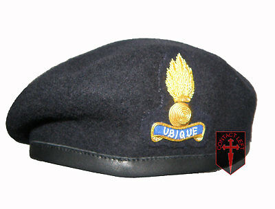 Royal Engineers Officers Blue Beret 57cm and Cap Badge