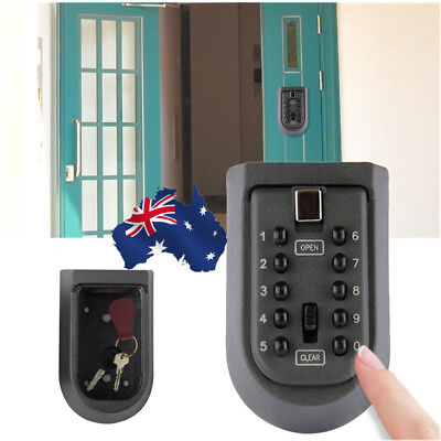 AU!! 1x Outdoor Combination Hide Key Safe Lock Box Storage Wall Mounted Security