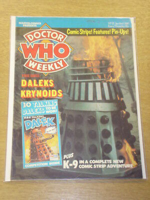 Doctor Who #12 1980 Jan 2 British Weekly Monthly Magazine Dr Who Dalek Cybermen
