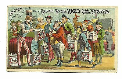 Trade Card Berry Brothers Hard Oil Finish UNCLE SAM Varnish Manufacturer Detroit