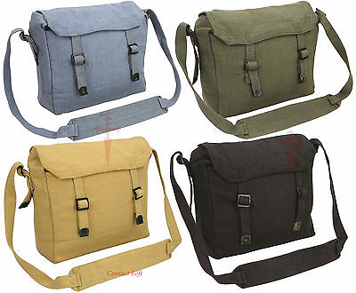 Retro Mens Ladies vintage military army messenger haversack satchel bag