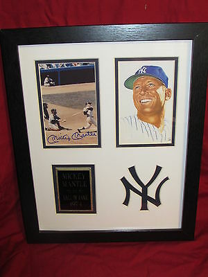 Mickey Mantle Matted & Framed Replica Autograph Photos 11x14 Home run Swing