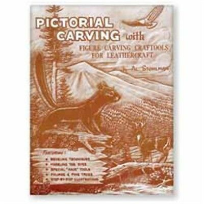 Pictorial Leather Carving Book - How To Carve Patterns Leathercraft Tandy