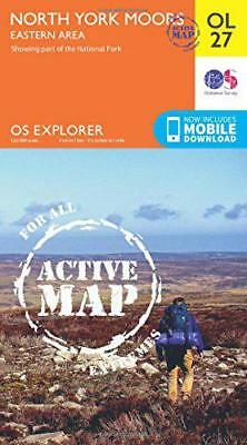 OS Explorer ACTIVE OL27 North York Moors - Eastern area (OS Explorer Map Active)