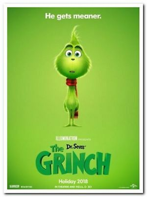 GRINCH - 2018 - Original 27x40 ADVANCE movie poster - BENEDICT CUMBERBATCH
