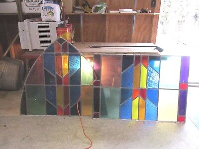 Vintage Leaded Stained Glass Windows From Church- 32 X 44 And 39 X 44