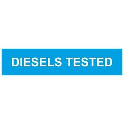 Diesels Tested Rigid Foamex 625x150 - Castle Sign x Promotions 625mm 150mm
