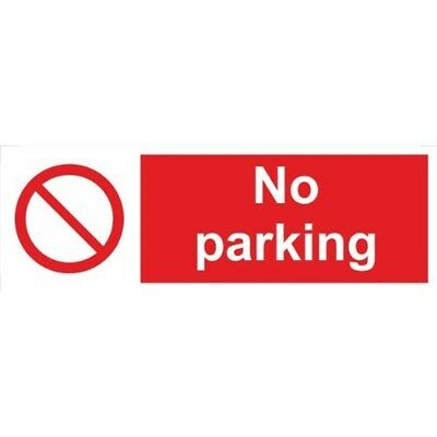 No Parking Self Adhesive Vinyl 600mm x 200mm - Castle Sign Promotions Ss028sa