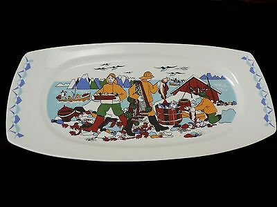 Vintage~TORSKEFISKE~Gerd Design~Large Fish Platter~ Norway~Excellent