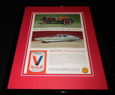 1966 Valvoline Motor Oil Framed 11x14 ORIGINAL Advertisement