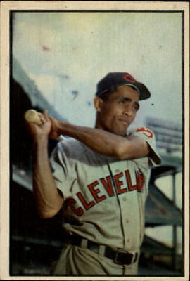 1953 Bowman Color Cleveland Indians Baseball Card #86 Harry Simpson - VG-EX