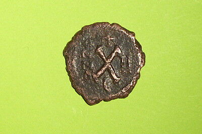 ANCIENT BYZANTINE COIN of MAURICE TIBERIUS 582 AD-602 AD X antique old Sear 539