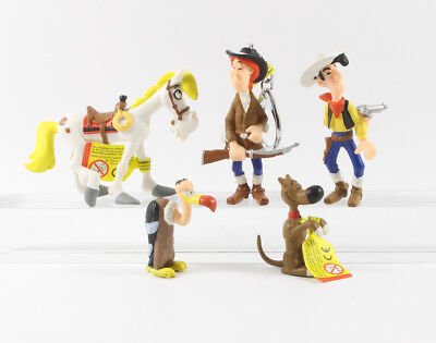 Lucky Luke === 5 x Geier Jolly Jumper etc. Plastoy