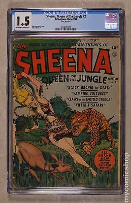 Sheena Queen of the Jungle (Fiction House) #2 1942 CGC 1.5 1554507020