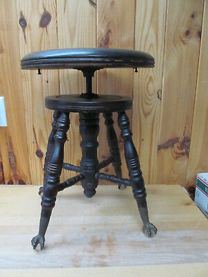Charles Parker Meridan, CT – Antique Piano Stool Claw & Ball Iron Foot