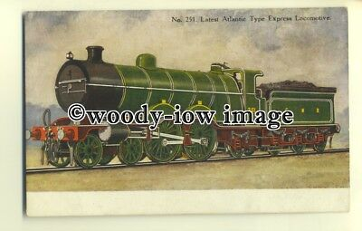 ry1057 - G.N.R. No.251 the Latest Atlantic Type Express Locomotive - postcard