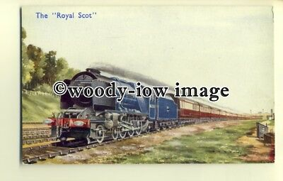 "ry1059 - B.R. The ""Royal Scot"" hauled by 7P class ""Pacific"" No.46250 - postcard"