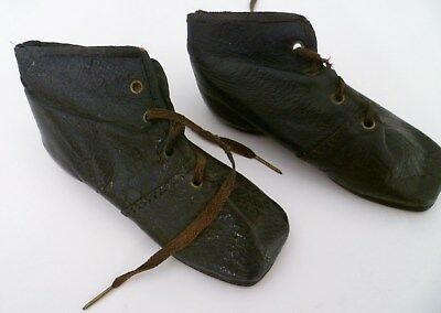 1800s EARLY Antique LEATHER CHILD'S SHOES Size 2