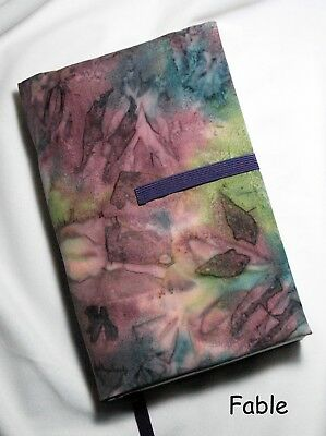 """9 x 6"""" Fabric Book Cover- Adjustable Thickness.  """"Fable"""" Print  Made in USA"""
