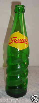 Vintage Squirt Twist Soda Bottle 12 Oz Never An After Thirst