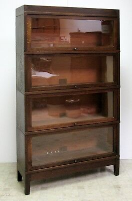 GLOBE WERNICKE OAK Turn of the Century 6 Pc Barrister Bookcase - (FREE DEL ?)