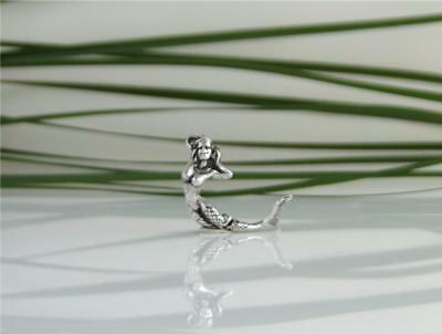 Vintage Sterling Silver 3D Movable Articulated Mermaid Ocean Bracelet Charm