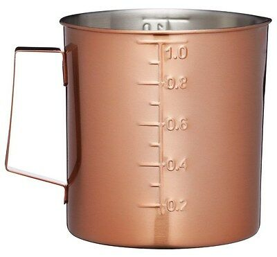 Masterclass by Kitchen Craft Copper Finish Large 1Ltr / 35oz Measuring Jug Cup