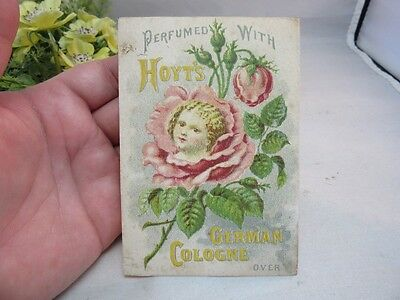 Vtg Victorian advertising trade card.Hoyt's German Cologne Lowell,MA