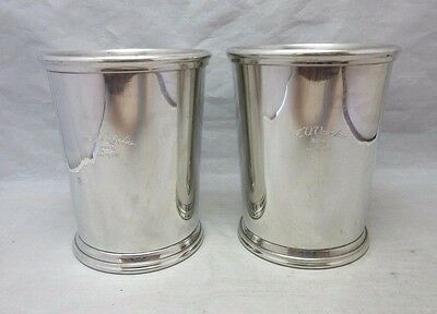 1987 M.V. Valvoline Ashland advertising Salisbury Pewter julep cups