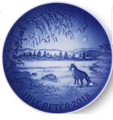 Brand New in Box! BING & GRONDAHL 2018 Christmas Plate --> Fox