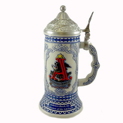Anheuser-Busch 1872 AND 1886-1889 EVOLUTION Stein Collector Member 1St CB23
