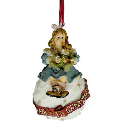 Boyds Bears Resin AMY & SAM BABYS FIRST CHRISTMAS Resin Ornament 25857