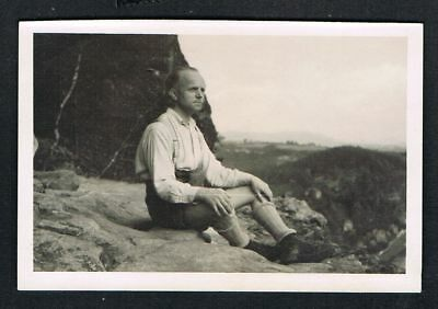 FOTO vintage PHOTO, Lederhose, kurze Hose, shorts, leather pants, /135d