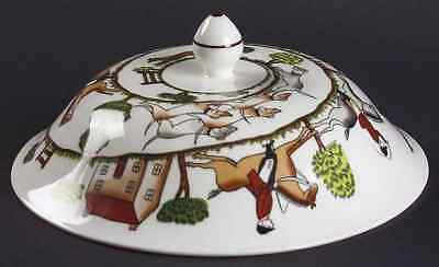 Crown Staffordshire HUNTING SCENE Lid For Muffin Dish 5493325