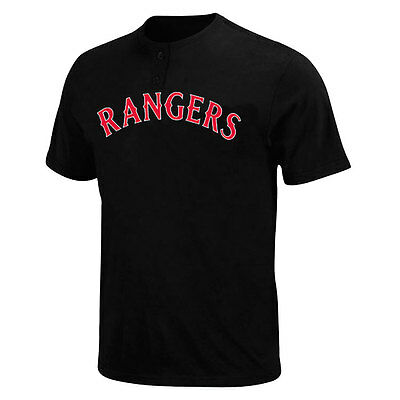 Texas Rangers 2 Button Officially Licenced MLB T shirt