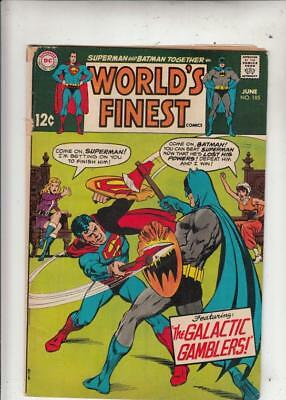World's Finest # 185 strict VG+content Last 12 cent issue.