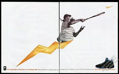 1995 Andre Agassi photo Nike Air Challenger LWP tennis shoes vintage print ad