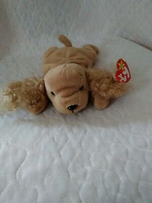 Ty Beanie Buddy Medium SPUNKY Cocker Spaniel Dog Plush Retired 1996