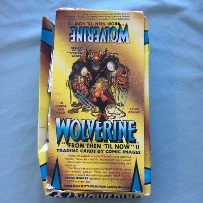 1992 Comic Images Marvel Wolverine From Then Till Now 2 II 36/48 Sealed Packs