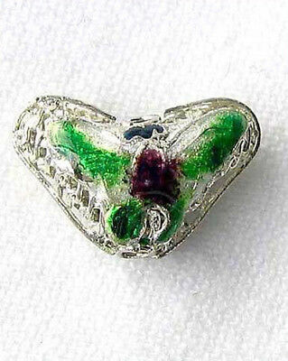 This is for 5 GREEN! CLOISONNE Butterfly PENDANT Beads 8635G