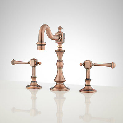 Signature Hardware Vintage Widespread Bathroom Faucet with Lever Handles